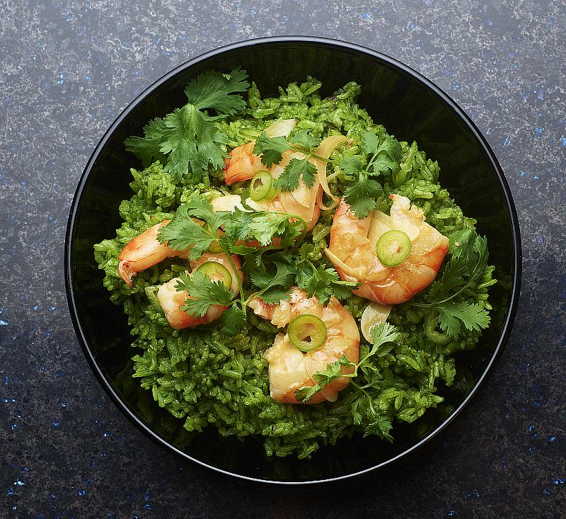 Shrimp and Green Rice