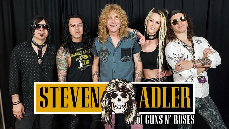 Former Drummer of Guns N' Roses Steven Adler to Perform Live in Concert at Fremont Street Experience Saturday, August 21.