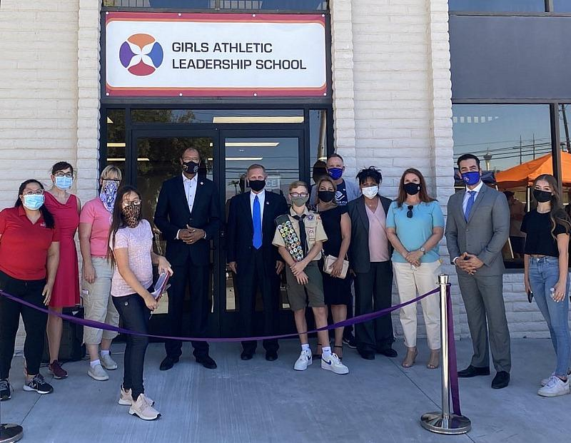 Grand Opening/Ribbon Cutting at the New Campus for the GALS (Girls Athletic Leadership School Las Vegas)