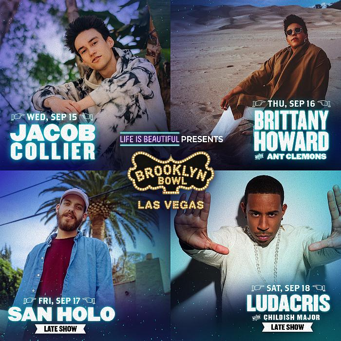 Life Is Beautiful Presents All-Star Entertainment Lineup Exclusively at Brooklyn Bowl Las Vegas, Sept. 15 - 18