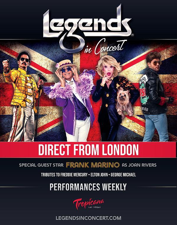Legends in Concert - New Production at Tropicana Las Vegas Beginning September 9