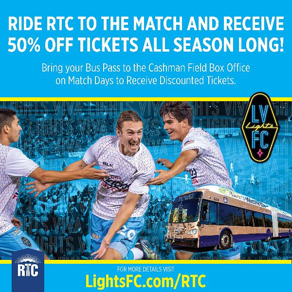 """Lights FC Announce """"Ride RTC to the Match, Get in Half-Price!"""" Promotion"""