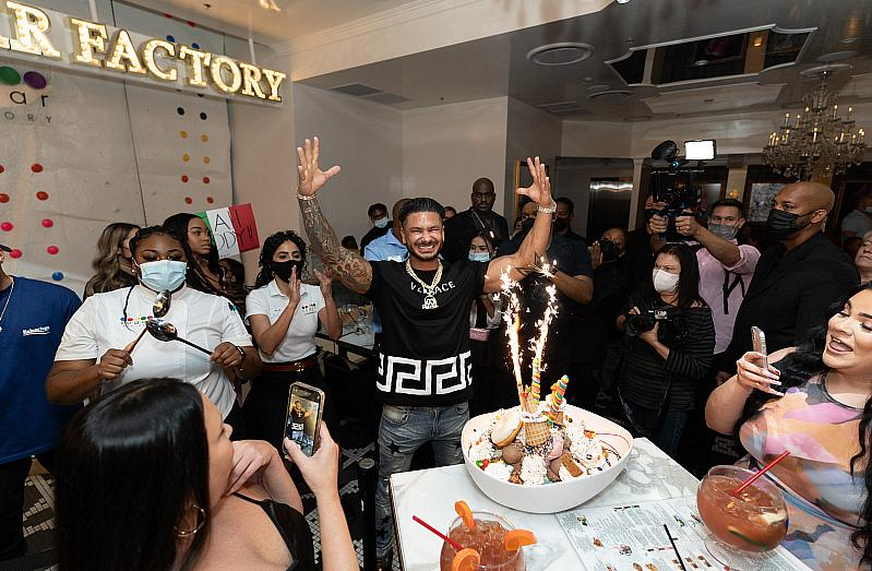 """DJ Pauly D, American television personality and one of the stars of MTV's hit show """"Jersey Shore"""" hosted the second grand opening celebration of the newest Sugar Factory Las Vegas"""