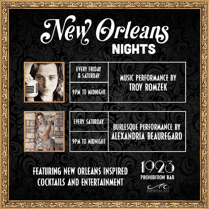 """1923 Prohibition Bar at Mandalay Bay Announces """"NOLA Nights"""" Every Friday and Saturday Night"""
