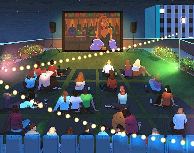 Hidden Cinema Rooftop Garden Movie Experience Pops Up in Downtown Las Vegas Sept. 17