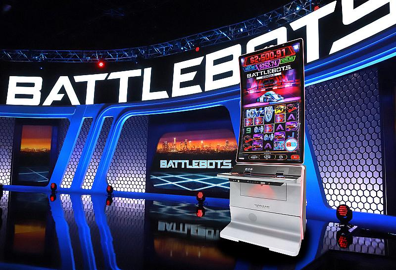 World's First BattleBots Slot Machine Lands in Las Vegas for the 2021 World Championship