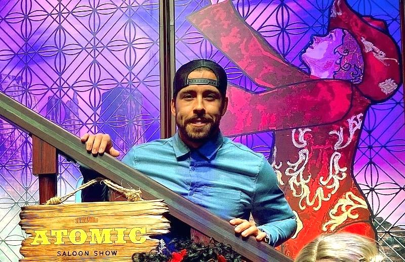 Chandler Stephenson Attends ATOMIC SALOON SHOW at the Grand Canal Shoppes inside The Venetian Resort