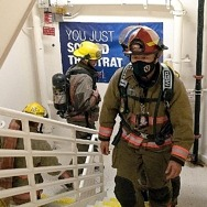 Las Vegas Firefighters Climb 1,455 Steps at the Strat to Honor Those Lost on 9/11 on Tragedy's 20th Anniversary