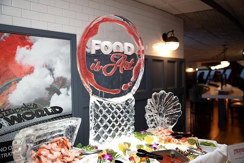 Food is Art Ice Sculpture Display