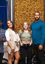 Dominick Reyes, Jessica Eye, Kay Hansen, Trevin Jones and Max Griffin Spotted at Blume Kitchen & Cocktails in Las Vegas