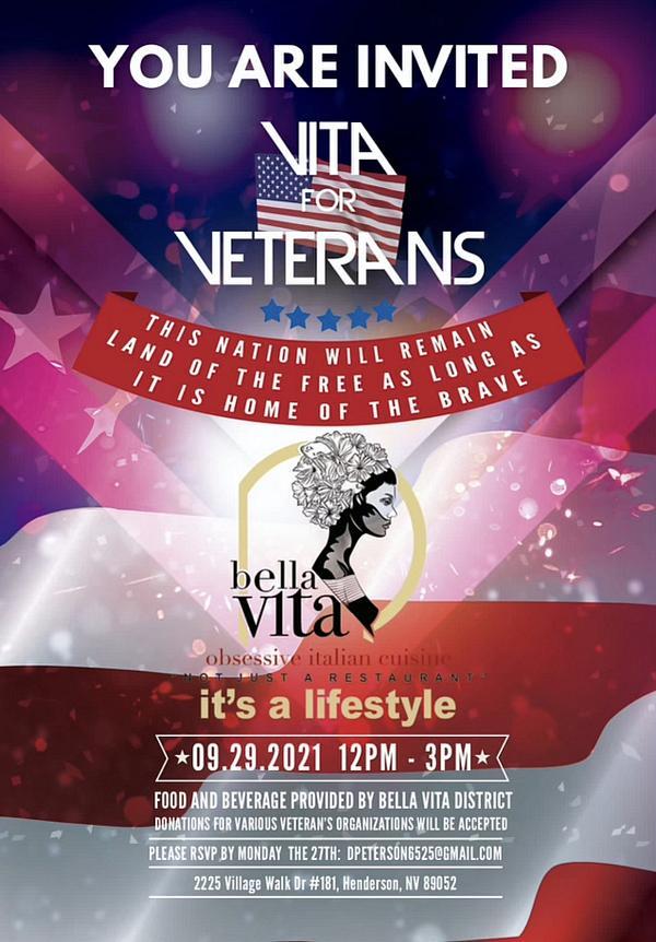 90 Veterans and Dignitaries at Bella Vita for Luncheon