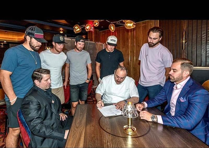 Owners of Barry's Downtown Prime with Vegas Golden Knights Las Vegas