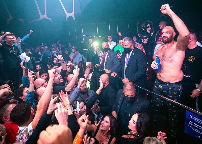 Heavyweight Tyson Fury at Hakkasan Nightclub Las Vegas