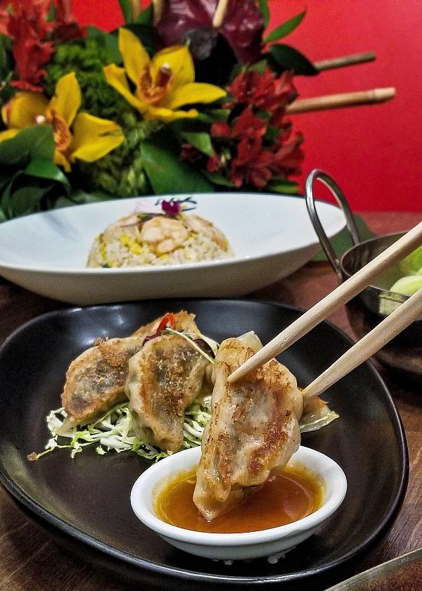 Poh Poh Chicken Dumplings - with mix of chicken, chive, and mushrooms