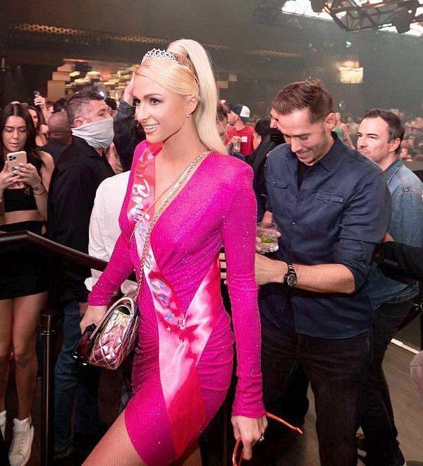 Paris Hilton and Fiancé Carter Reum Celebrate Co-Bachelorette/Bachelor Party at Resorts World Las Vegas