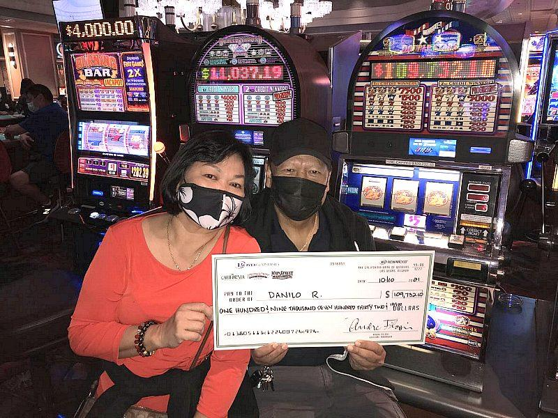 Las Vegas Resident Wins Nearly $110,000 Playing IGT's Red White & Blue Slot Game at the California Hotel and Casino