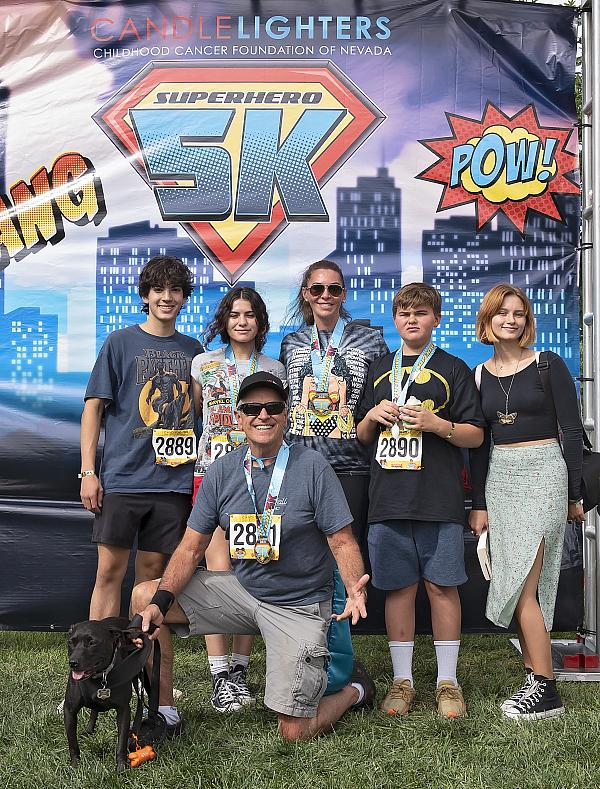 Family at Candlelighters Superhero 5K
