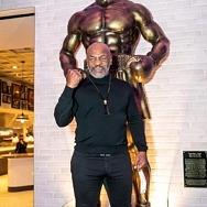 Mike Tyson Unveils Statue at Mulberry Street Pizzeria inside Resorts World Las Vegas