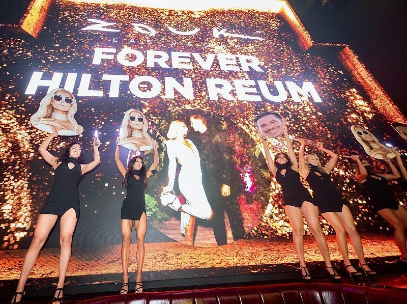 Paris Hilton and Fiancé Carter Reum at Zouk Nightclub