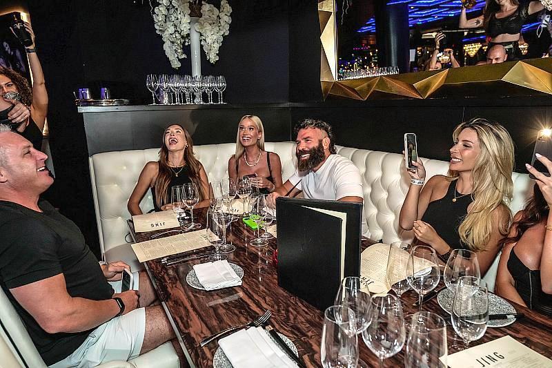 JING Las Vegas WaitstaffIGNITE presentation to Dan Bilzerian at JING Las Vegas.(Photo credit: Carlos Macias)