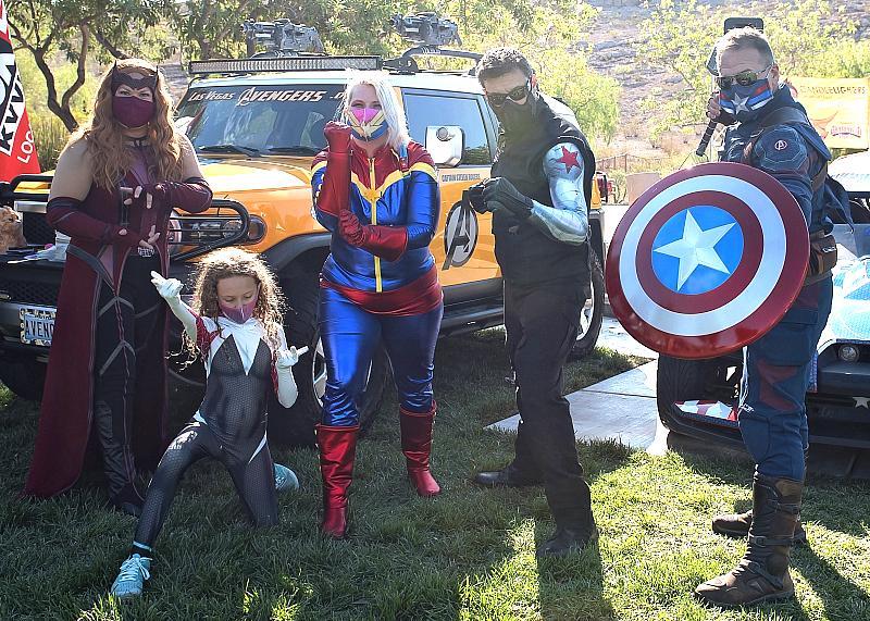 Superhero Family at Candlelighters Superhero 5K