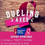 """Dueling Axes Las Vegas at AREA15 Is Supporting the American Cancer Society to """"Axe Out Cancer"""""""