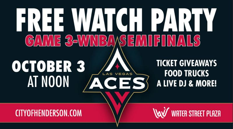 City of Henderson to Host Las Vegas Aces Watch Party at Water Street Plaza on Oct. 3