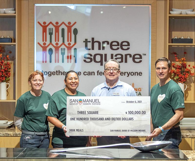 San Manuel Band of Mission Indians Donate $100,000 to Las Vegas Non-Profit Three Square Food Bank
